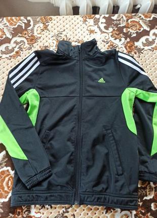 Оригінальна спортивна кофта adidas для хлопчика1 фото