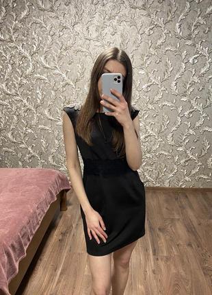 Платье с наплечниками из бисера турция размер s - m