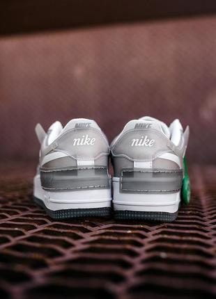 Nike air force shadow white grey женские серые кроссовки найк/ жіночі сірі кросівки найк6 фото