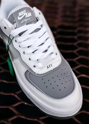 Nike air force shadow white grey женские серые кроссовки найк/ жіночі сірі кросівки найк7 фото