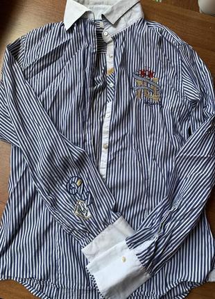Рубашка приталенная в полоску