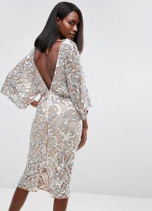 Asos роскошное декорированное платье пайетки