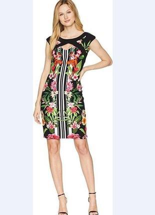 Яркое платье футляр sangria размер m-l