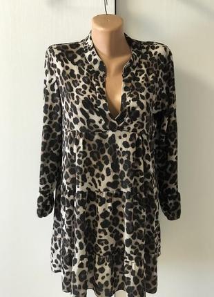 Платье, туника леопард.