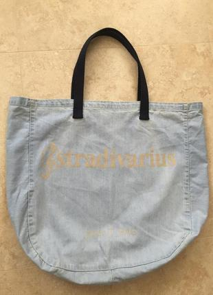 Джинсовая сумка stradivarius
