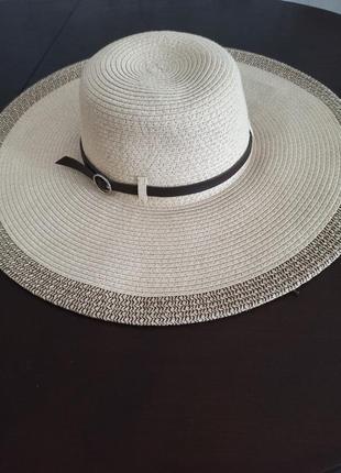 Шикарная шляпа с широкими полями из сша capelli of new york