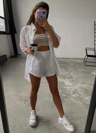 Костюм женский летний с шортами футболкой легкий яркий