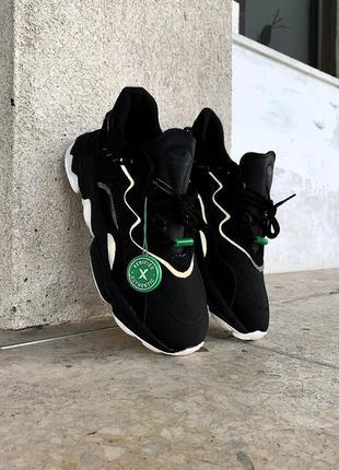 Ozweego black reflective рефлективные унисекс чёрные кроссовки адидас / рефлективні жіночі чорні кросівки