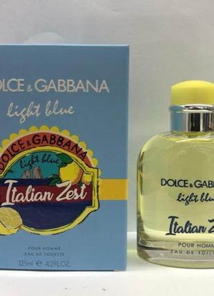 Мужская туалетная вода dg light blue italian zest 125 мл
