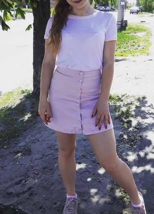 Розовая юбка modis