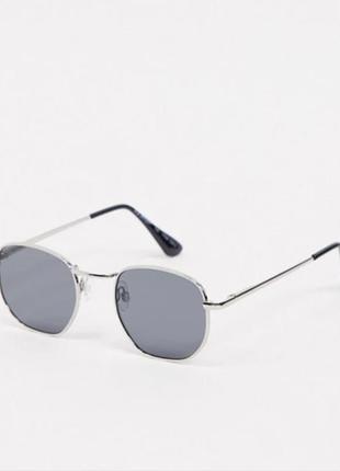 Серебристые круглые солнцезащитные очки в стиле ретро aj morgan