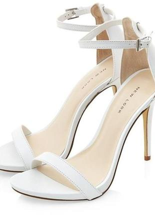Белые босоножки new look