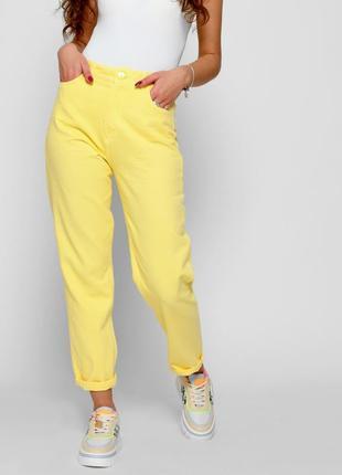 Стильные летние желтые джинсы