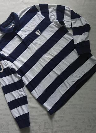 Суперская рубашка-регби authentic iconic sport/полосатая футболка-поло/лонгслив