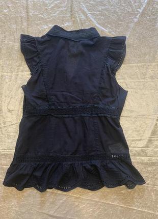 Тонкая романтичная блузка шитье прошва karen millen размер 10{38}4 фото