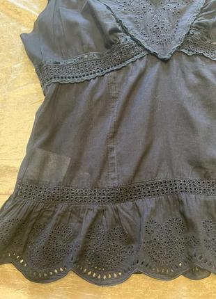 Тонкая романтичная блузка шитье прошва karen millen размер 10{38}3 фото