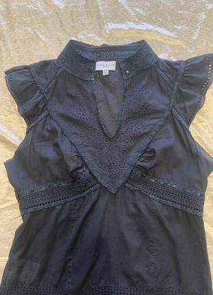 Тонкая романтичная блузка шитье прошва karen millen размер 10{38}2 фото