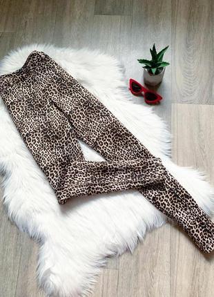 Леопардовые классические брюки по фигуре 😍