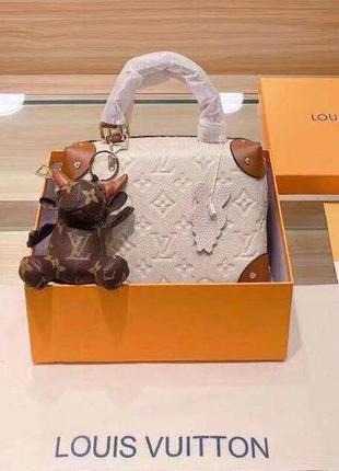 Женская кожаная сумка в стиле louis vuitton💥натуральная кожа, белая
