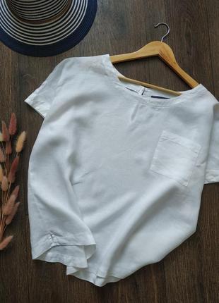 Летняя блуза лен, лёгкая льняная блузка