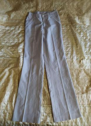 Классические брюки с мелкой люрексовой нитью