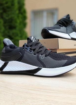 Adidas 🆕дышащие мужские кроссовки🆕легкие летние черно-белые кроссовки адидас