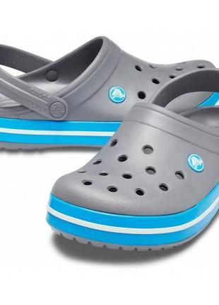 Сабо кроксы crocs crocband charcoal/ocean