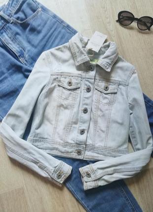 Укороченная джинсовка, джинсовая куртка, пиджак, жакет