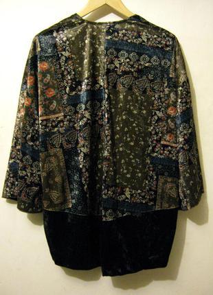 Накидка - кимоно велюр pull & bear новые супер цена