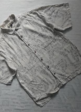 Суперская шелковая рубашка /тенниска tommy bahama (оригинал) #100%шелк#