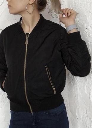 Черный бомбер zara, куртка, ветровка, курточка, вітровка