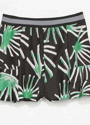 Новые шорты zara размер s принт пальмы тропик пляжные шорты лето zara