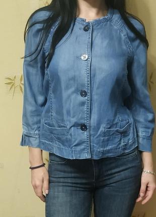 Джинсовый летний пиджак