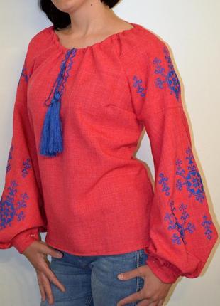 Вишиванка блуза сорочка з вишивкою вишиванка жіноча розмір м
