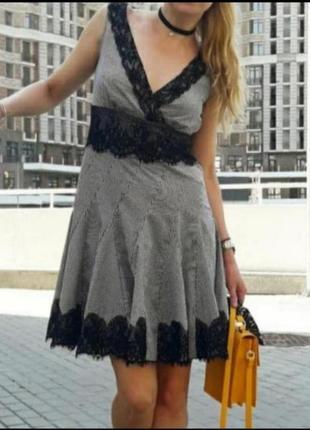 Платье сарафан хлопковое с кружевом