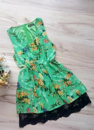 Платье в цветочек,шифон