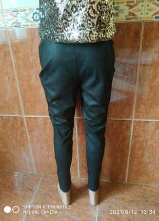 Черные штаны скинни7 фото