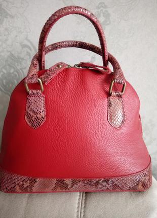 Шикарная статусная кожаная сумка borse in pelle