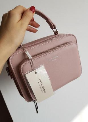 Пудровая розовая сумочка david jones