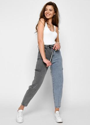 Оригинальные двухцветные джинсы