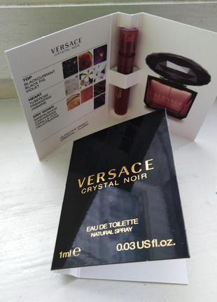 Versace crystal noir, оригинальный пробник со спреем версаче