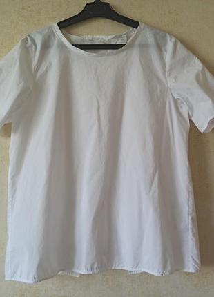 Стильная хлопковая белая блуза футболка рубашка cos