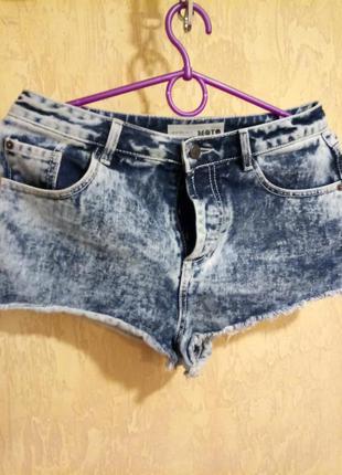 Шорты джинсовые мото