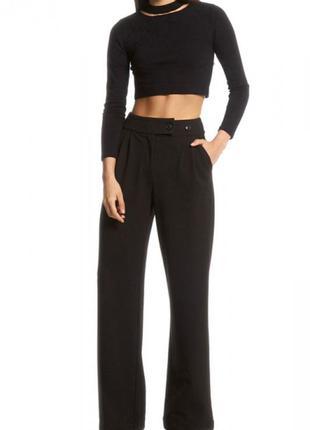 Красивые широкие брюки с завышенной талией neon rose