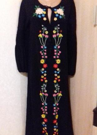 Шикарне плаття вишиванка від зара