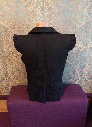 Черная женская жилетка жилет р.s/xs5 фото