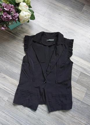 Черная женская жилетка жилет р.s/xs4 фото