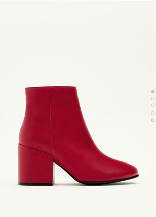 Новые шикарные ботинки pull&bear 100% натуральная кожа