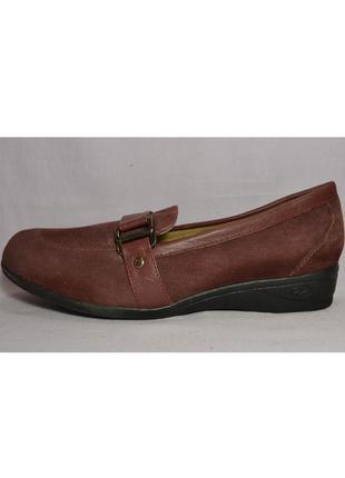 Р.39.5-40 damart,франция, натуральная замш кожа! ортопедические, мягкие туфли мокасины