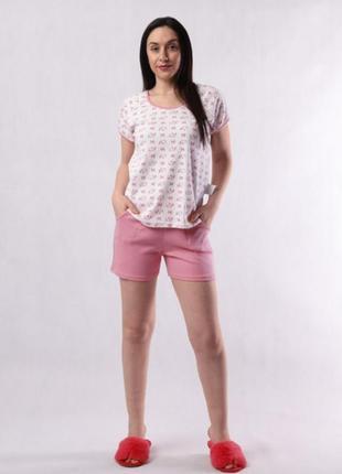 Пижама футболка + шорты хлопок